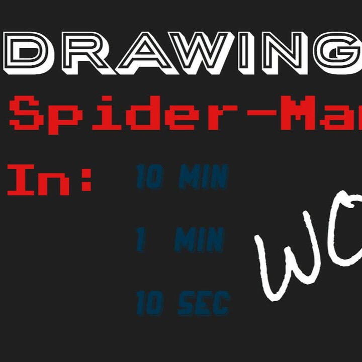 Drawing Spider-Man in 10 min, 1 min and 10 sec! (Comparison!)