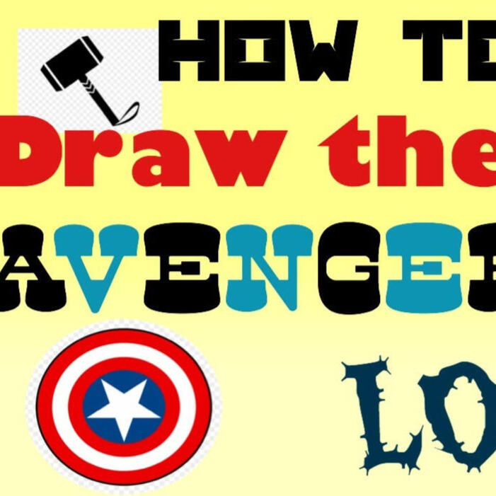 How to draw the Avengers logo EASY!!!
